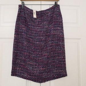 JCrew no. 2 pencil skirt in multicolor tweed